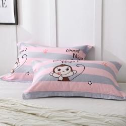 (总)鑫程家纺新品128×68全棉印花单品枕套一对