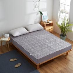 敢为床垫  纯色水洗棉绗绣夹棉床笠