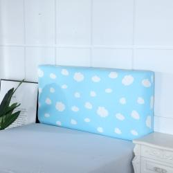 (单)喜相逢家纺 D22-床头罩--弹力布 蓝天白云