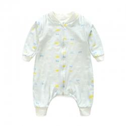 老皮匠 秋季薄款A类婴幼儿天然有机棉分腿睡袋 云朵蓝