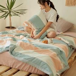 北欧良品18年全棉色织水洗棉夏被无印良品(可配枕套18/元)