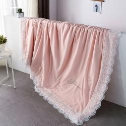法式公主60天丝夏被蕾丝夏凉被纯色可水洗莫代尔空调被