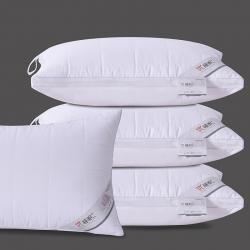 瑞莉安枕芯 优睡眠绗缝格羽丝绒枕 悬挂带可水洗