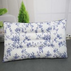 兴丝露枕芯 定型护颈枕灰青花瓷 枕头 定型枕 保健枕
