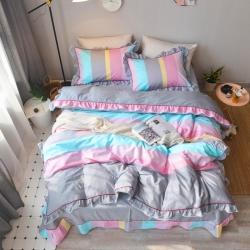 (总)全棉四件套纯棉韩版公主风三件套床单款(还有床笠跟床裙款