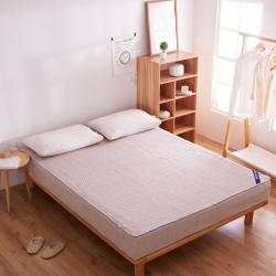 敢为床垫 纯色日式色织彩棉加厚夹棉床笠