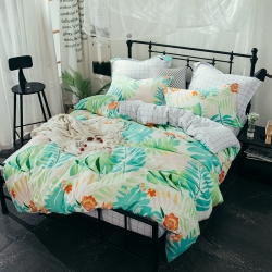 (总)热卖爆款全棉12868斜纹印花四件套纯棉双人床上用品