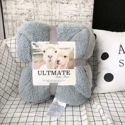 卜古家纺 ULTMATE羊羔绒毛毯升级版 烟雾蓝