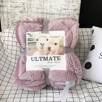卜古家纺 ULTMATE羊羔绒毛毯升级版 藕色