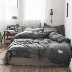 北欧简约色织水洗棉—奥丁灰