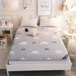 米帛床垫  水晶绒印花加厚榻榻米床垫