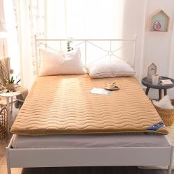 米帛床垫 法兰绒纯色加厚防滑榻榻米床垫