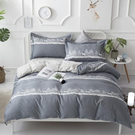 寐怡家纺 全棉活性四件套床上用品 纯棉套件-乌根奇-兰