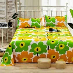 慕雅 全棉老粗布床单凉席枕套四季布床单