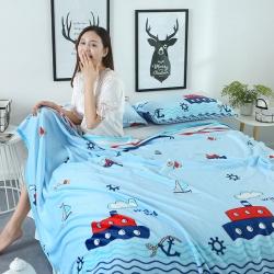 加厚云貂绒毛毯 床单 法莱绒四件套 珊瑚绒毯子云貂绒枕芯套