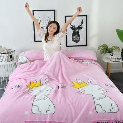 御赞家纺 双面绒毛毯 加厚云貂绒枕芯 枕套  床单法莱绒毯子