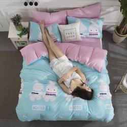 仁宇枕业新款INS风A棉B水晶绒三件套法莱绒四件套床单床笠