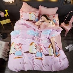 仁宇枕业ins包边款A棉B法莱绒三件套水晶绒四件套床单床笠款