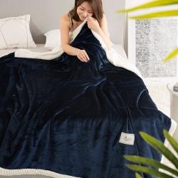 独家6斤双色加厚高品质牛奶绒贝贝绒毛毯 暖暖家纺