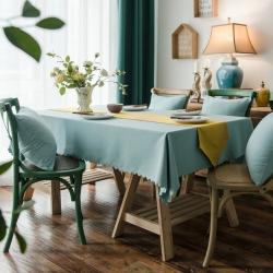 布兰鸟家纺2018新款—美式双面加厚芙蓉麻桌布台布餐桌布