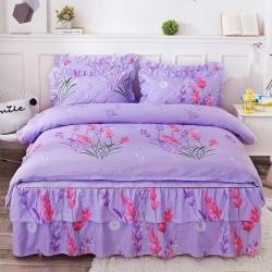 【总】三友家纺 夹棉床裙四件套 芦荟棉加棉床罩套件