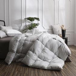 100支全棉立体边大面包格羽绒被鹅绒被冬被春秋被芯有同款枕芯