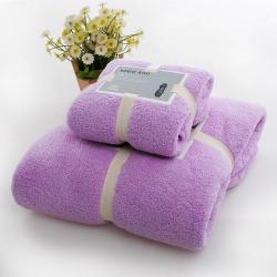 贝拉萌 450克加厚加密珊瑚绒毛巾浴巾套装25元