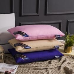 沐希枕业 纯色不变形热熔枕芯枕头(整张棉填充)48*74cm