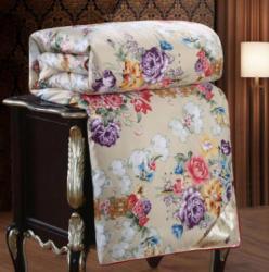 百宝莉被业 2018新款丝绸印花宫廷蚕丝被贵族蚕丝被冬季被子
