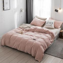 (总)双拼天鹅绒绣花三四件套单被套床单床笠枕套单独包装自由搭