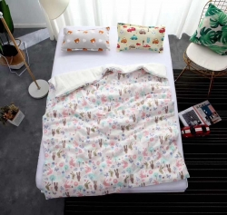 吖噢 全棉纱布西松屋高密卡通婴童用品被罩 被套120*150