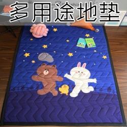 (总)卡通地垫客厅婴儿爬行垫儿童游戏垫卧室满铺地毯子野餐垫