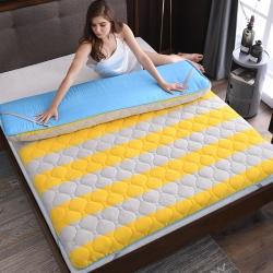 法莱绒床垫抗菌保暖床垫加厚立体床垫保护套抗菌防螨夹棉床罩