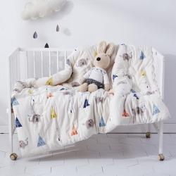 御棉坊全棉双层纱棉花被婴幼儿包被儿童被子冬被春秋被芯象宝宝