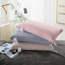 沐希枕业 日式无印风立体绗绣热熔枕头枕芯