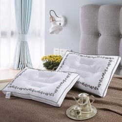 沐希枕业 纯棉落叶立体羽丝绒枕头枕芯