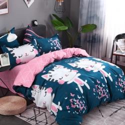 新款面料加厚植物羊绒磨毛床上四件套被套床单三件套不起球不褪色