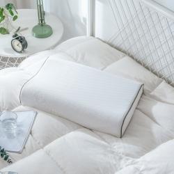 晓苑 乳胶波形枕单人枕乳胶枕护颈定型枕颗粒按摩狼牙40*60