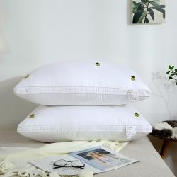 枕芯 全棉枕芯 全棉贡缎绣花羽丝绒枕(小菠萝)枕芯 儿童枕芯