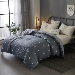 (总)新品上市全棉简欧单被套单双人学生纯棉被套多规格床上用品