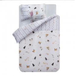 御棉坊A类双层纱布儿童被套纯棉婴儿幼儿园宝宝小被罩企鹅的派对