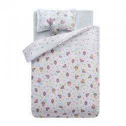 御棉坊A类双层纱布儿童被套纯棉婴儿幼儿园宝宝被罩林中小熊-米