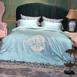 (总)慕莎家纺 60s长绒棉绣花四件套高端套件样板房套件