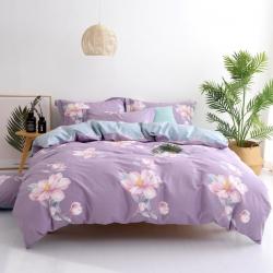 尔米家纺 2019全棉13372印花四件套 莱茵春色-紫