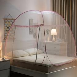 免安装蒙古包蚊帐双开加密加厚2米防蚊拉链有底学生1.2米家用