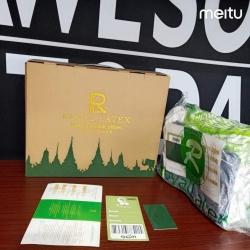 皇家Royallatex乳胶枕授权高低颗粒按摩天然乳护颈枕头