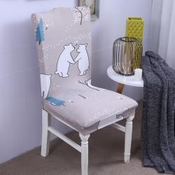 【总】2019弹力连体椅套椅垫椅子套沙发套快乐小象