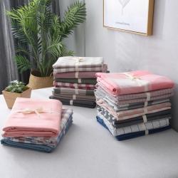 (总)尔米家纺 全棉水洗棉无印良品风单品被套
