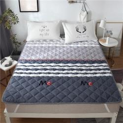 2019新品 斜纹活性印花床褥 可机洗榻榻米床垫席梦思床护垫