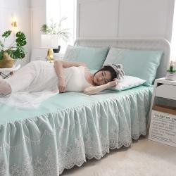 (总)首尔爆款床裙款冰丝软席空调席凉席纯色